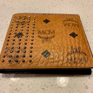 MCM bifold studded wallet